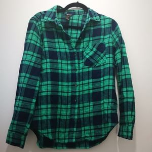 Forever 21 Green Plaid Shirt